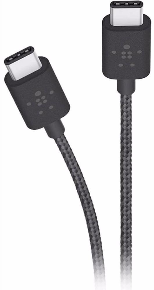 Belkin Mixit Metallic 1.8 m (F2CU041BT06-BLK) - кабель USB-C to USB-C (Black)