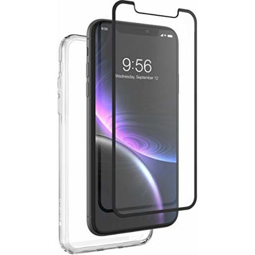 Защитный чехол InvisibleShield 360 для iPhone XR + защитное стекло InvisibleShield Glass Curve (изогнутое). Материал пластик. Цвет прозрачный.