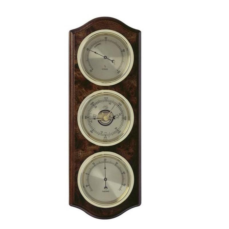 Аналоговая метеостанция TFA 20.1076.20.B, деревянная
