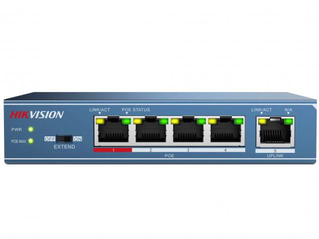Hikvision Неуправляемый PoE-коммутатор DS-3E0105P-E
