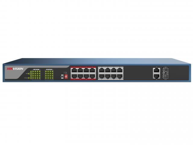 Hikvision Неуправляемый PoE-коммутатор DS-3E0318P-E