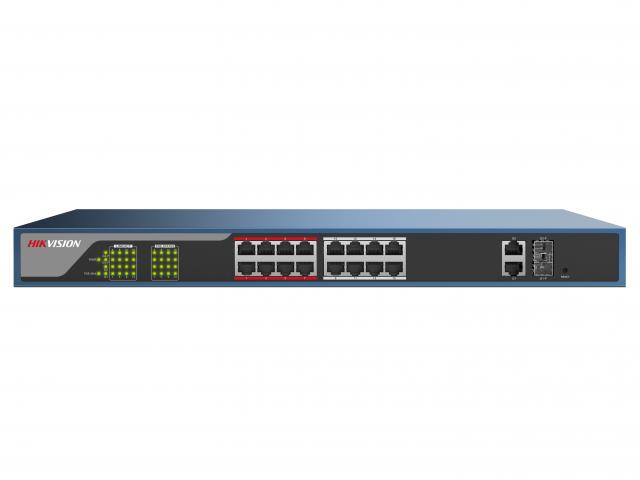 Hikvision Веб-управляемый PoE-коммутатор DS-3E1318P-E