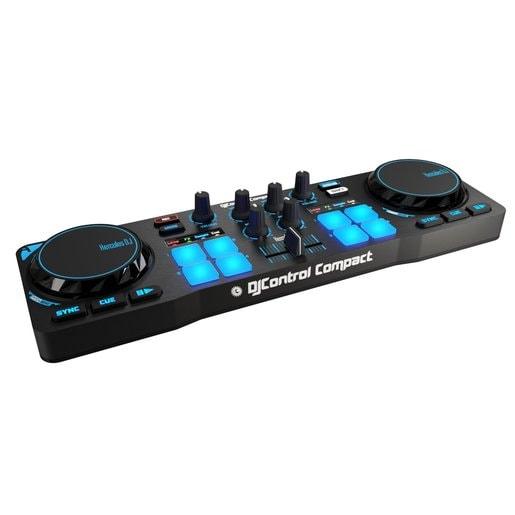 DJ-контроллер Hercules DJControl Compact + 10 шт. светящиеся браслеты Hercules LED Wristbands