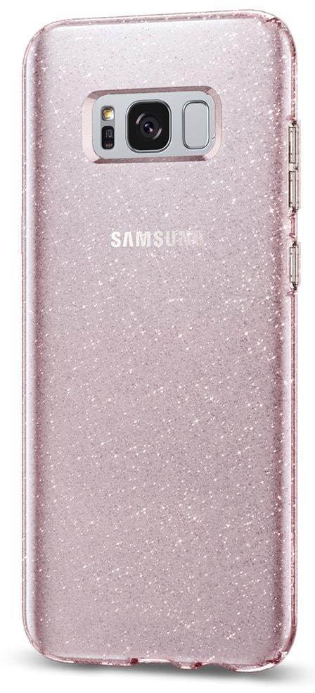 Spigen Liquid Crystal Glitter (565CS21615) - накладка для Samsung Galaxy S8 (Pink Quartz)