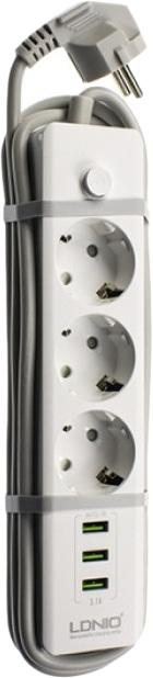 LDNIO 3U 1.8 м (SE3330) - сетевой удлинитель (White)