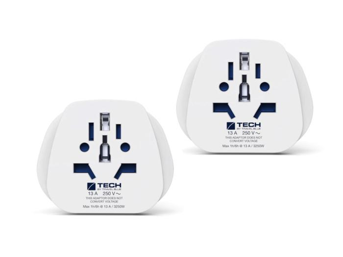 Комплект из двух сетевых адаптер-переходников Travel Blue World-to-EU (902)