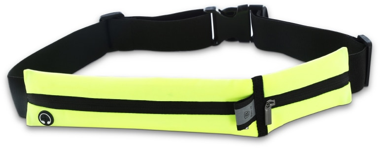 "Baseus Sport Pocket Belt (AWBASEOCP-06) - спортивная сумка на пояс для телефонов до 5.5"" (Black/Yellow)"