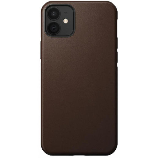 "Чехол Nomad Rugged Case для iPhone 12 mini (5.4""). Материал верха: кожа натуральная. Цвет:: светло-коричневый. Nomad Rugged Leather Case for iPhone 12 mini (5.4"") - Rustic Brown"