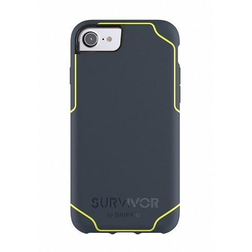 Чехол Griffin Survivor Journey для iPhone 7/6s/6. Материал пластик. Цвет черный/желтый.