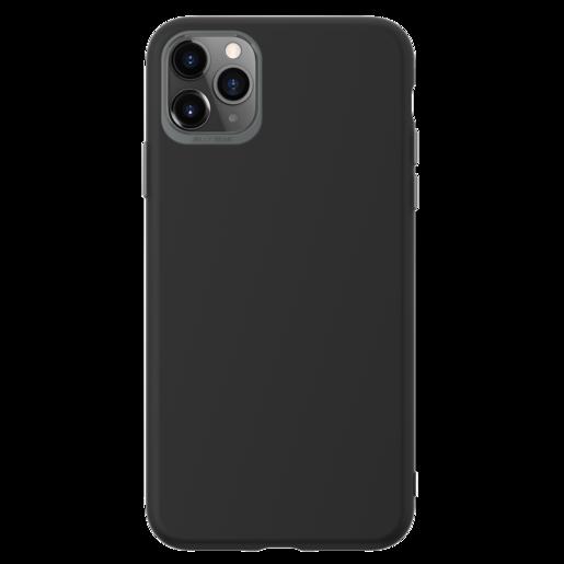 Чехол SwitchEasy Colors для iPhone 11 Pro Max. Материал полиуретан. Цвет черный.