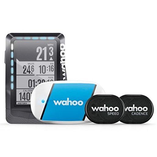 Набор Велокомпьютер Wahoo ELEMNT, прибор-кардиодатчик Wahoo TICKR, датчик скорости Wahoo RPM Speed Sensor, датчик вращения педалей Wahoo RPM Cadence