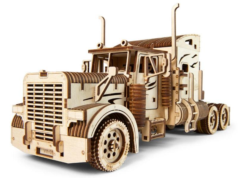 3D-пазл UGears Тягач (Heavy Boy Truck VM-03)
