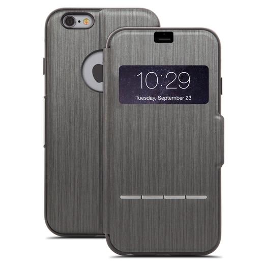 Moshi SenseCover для iPhone 6 Plus из кожзаменителя, Цвет: Черный.