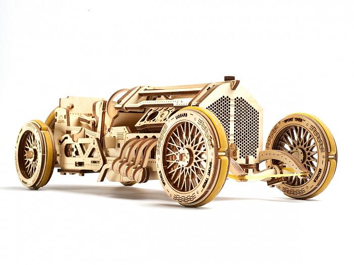 3D-пазл UGears Спорткар U-9 Гран-при (U-9 Grand Prix Car)