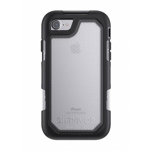 Чехол Griffin Survivor Summit для iPhone 7. Материал пластик. Цвет прозрачный/черный.