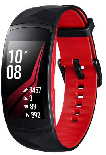Фитнес-браслет Samsung Gear Fit 2 Pro S (Black/Red)