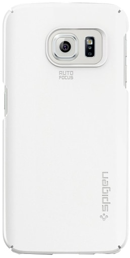 Spigen Thin Fit (SGP11563) - чехол-накладка для Samsung Galaxy S6 Edge (White)
