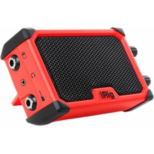 Портативный гитарный усилитель IK Multimedia iRig Nano Amp. Цвет красный.