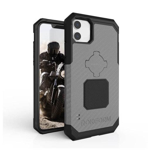 Противоударный чехол-накладка Rokform Rugged Case для iPhone 11 со встроенным магнитом.. Материал: поликарбонат. Цвет: серый. Rokform Rugged Case for iPhone 11 - Gunmetal