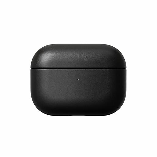 Чехол Nomad Rugged Case для зарядного кейса наушников Apple Airpods Pro. Материал кожа натуральная. Цвет черный.