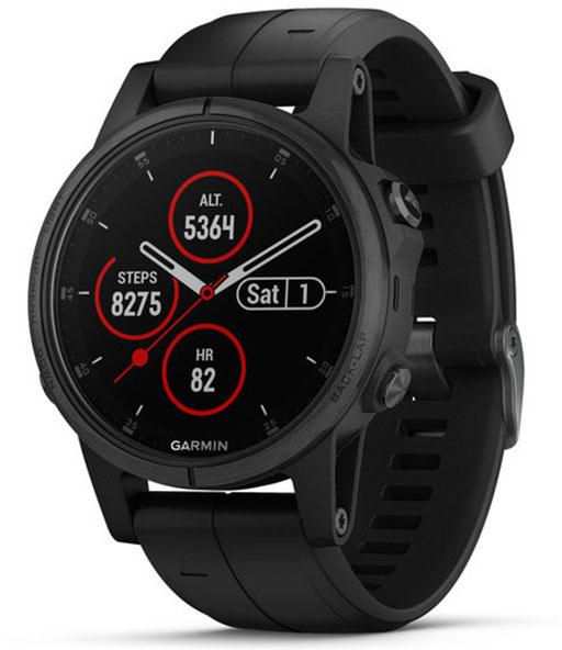 Умные часы Garmin Fenix 5S Plus Sapphire (Black)