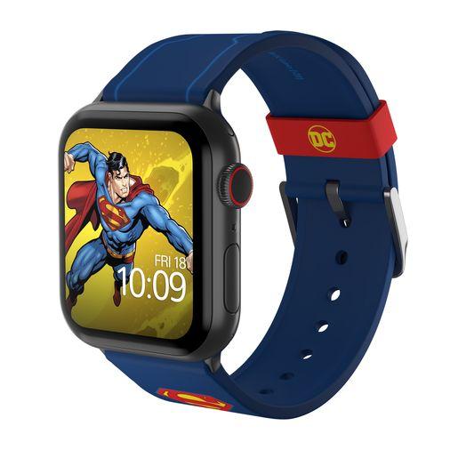 Ремешок MobyFox DC Superman Tactical, синий (для Apple Watch, все размеры)