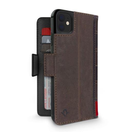 Чехол-книжка Twelve South BookBook Vol 2 для iPhone 11. Материал натуральная кожа. Цвет коричневый.