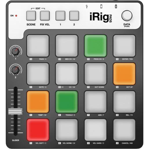 MIDI контроллер IK Multimedia iRig Pads для PC/Mac и устройств на базе iOS