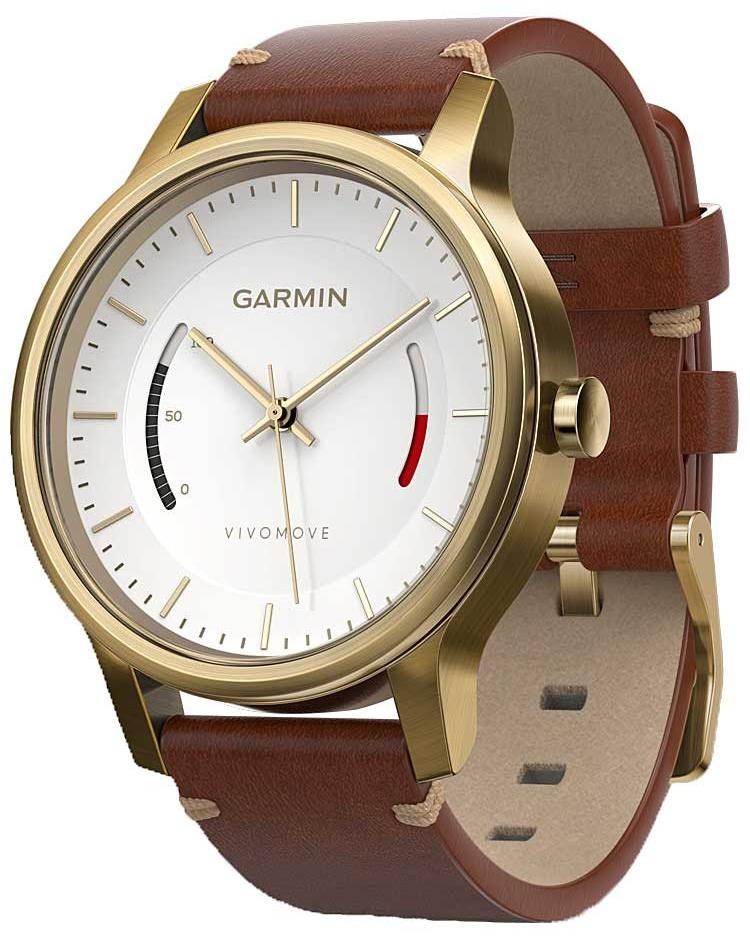 Спортивные часы Garmin Vivomove Premium 010-01597-21 (Gold/Brown)