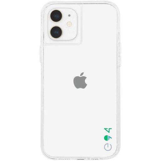 Чехол-накладка Case-Mate ECO 94 для iPhone 12 mini, покрытый антимикробным материалом Micropel. Материалы: ТПУ растительного происхождения. Размер изделия: 13.7 x 7 x 1.07 см. Цвет: прозрачный.