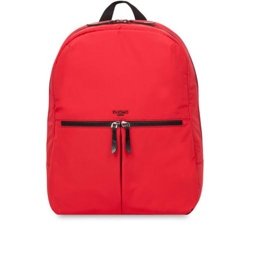 """Рюкзак Knomo Berlin для ноутбука до 15"""". Материал полиэстер, кожа натуральная. Цвет красный."""