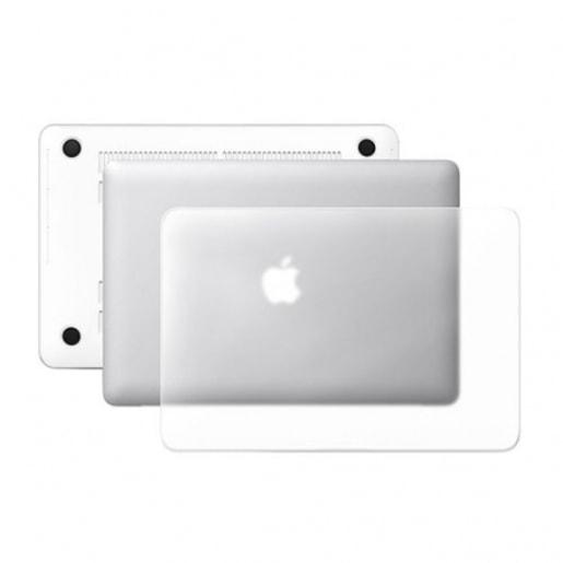 """Чехол-накладка для ноутбука Macbook Air 13"""". Материал пластик. Цвет: прозрачный матовый."""