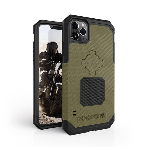 Противоударный чехол-накладка Rokform Rugged Case для iPhone 11 Pro Max со встроенным магнитом.. Материал: поликарбонат. Цвет: зеленый. Rokform Rugged Case for iPhone 11 Pro Max - OD Green