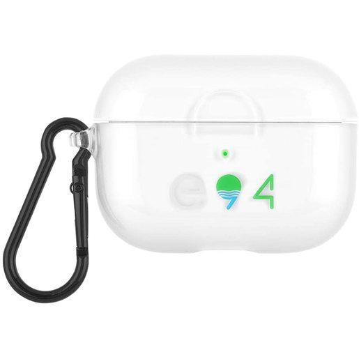 Чехол Case-Mate ECO 94 Case для AirPods Pro с черным кольцом-карабином. Материал: ТПУ растительного происхождения. Размер изделия: 5 x 6.2 x 2.4 см. Цвет: прозрачный.