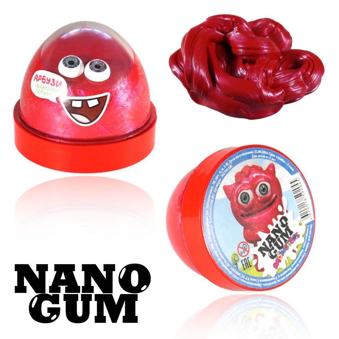 Жвачка для рук Nano gum Арбузи 50гр