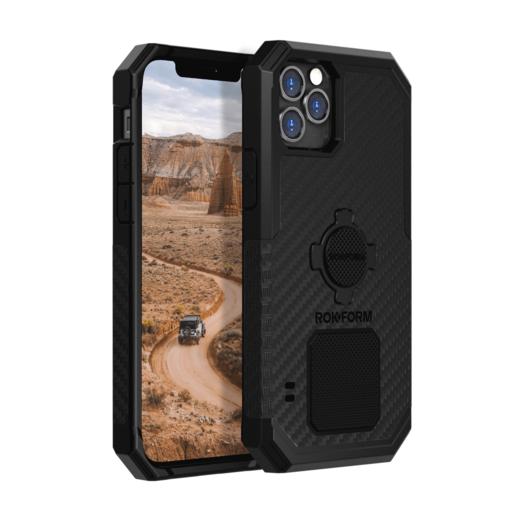 Противоударный чехол-накладка Rokform Rugged Case для iPhone 12 Pro Max со встроенным магнитом.. Материал: поликарбонат. Цвет: черный. Rokform Rugged Case for iPhone 12 Pro Max - Black