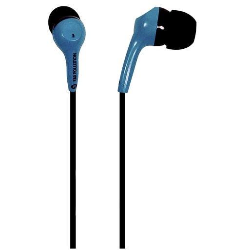 Наушники iFrogz EarPollution проводные вставные. Цвет синий.