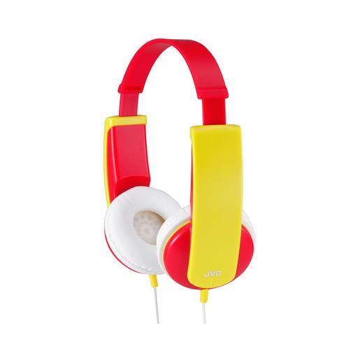 Наушники JVC проводные детские, модель HA-KD5-R-EF, серия KIDS. Цвет: красный/желтый JVC Наушники проводные детские, модель HA-KD5-R-EF, серия KIDS. Цвет: красный/желтый