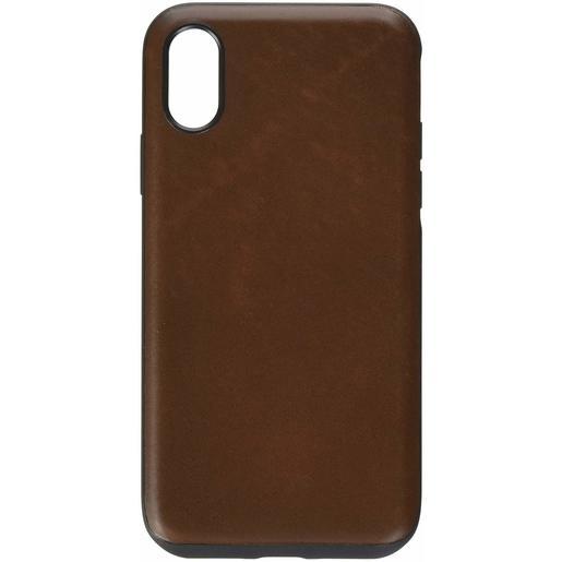 Чехол Nomad Rugged Leather Case V2 для iPhone XS. Материал кожа натуральная. Цвет коричневый.