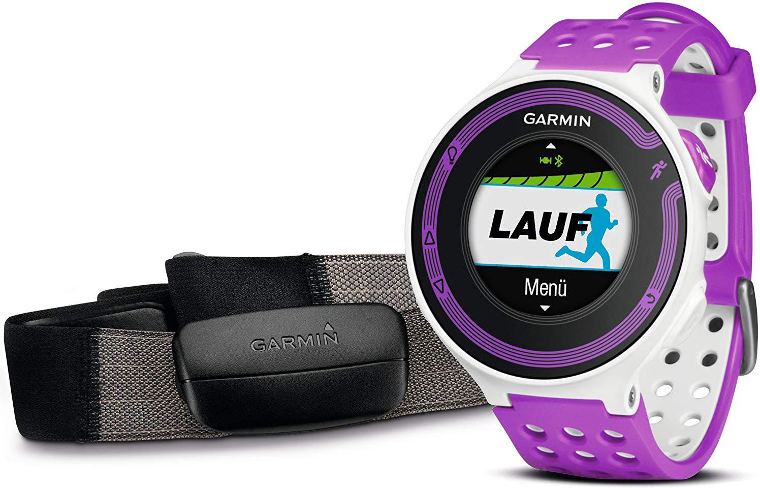 Умные часы Garmin Forerunner 220 HRM 010-01147-69 (White/Violet)