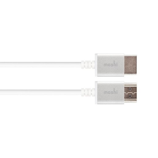 Кабель Moshi High Speed HDMI. Интерфейс HDMI to HDMI. Поддержка разрешения 4k. Длина 2 м. Цвет белый.