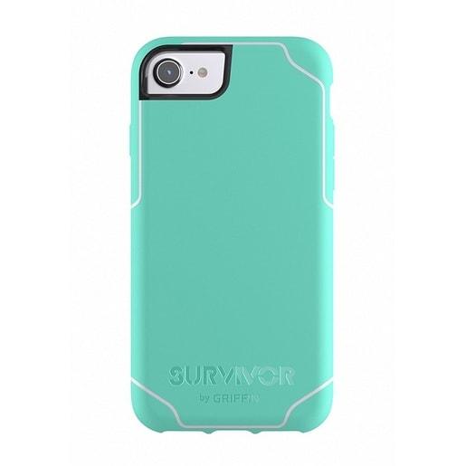 Чехол Griffin Survivor Journey для iPhone 7/6s/6. Материал пластик. Цвет салатовый/белый.