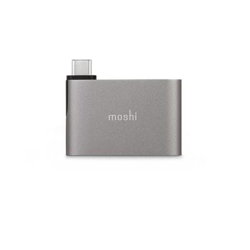 Адаптер Moshi USB-C to Dual USB-A. Цвет серый.