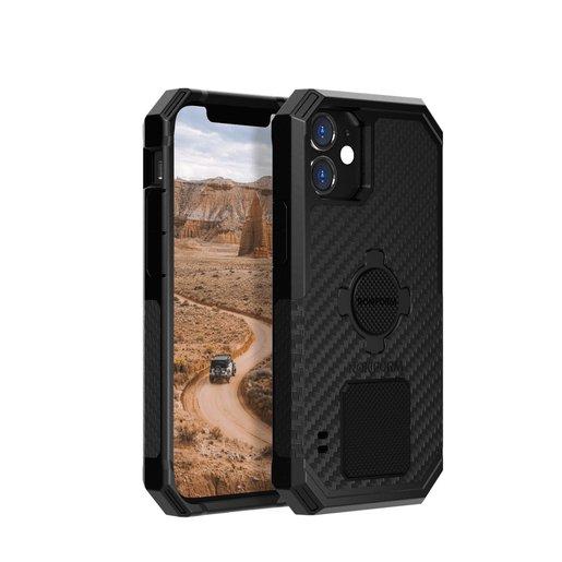 Противоударный чехол-накладка Rokform Rugged Case для iPhone 12 Mini со встроенным магнитом.. Материал: поликарбонат. Цвет: черный. Rokform Rugged Case for iPhone 12 Mini - Black