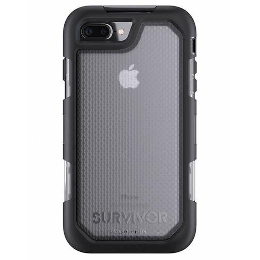 Чехол Griffin Survivor Summit для iPhone 7 Plus. Материал пластик. Цвет прозрачный/черный.
