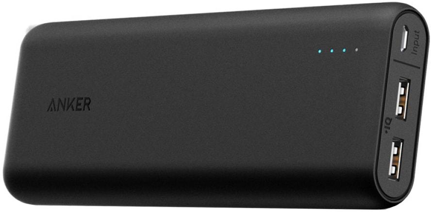 Anker PowerCore 15600mAh (A1252H11) - внешний аккумулятор (Black)