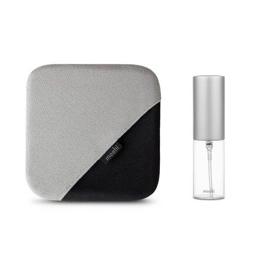 Набор для очищения дисплея Moshi TeraGlove Cleaning Kit. Комплектация: салфетка-перчатка из микрофибры, мини-распылитель.