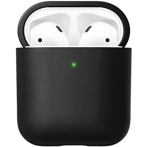Чехол Nomad Rugged Case V2 для зарядного кейса наушников Apple Airpods и AirPods Wireless Charging Case. Материал кожа натуральная. Цвет черный.