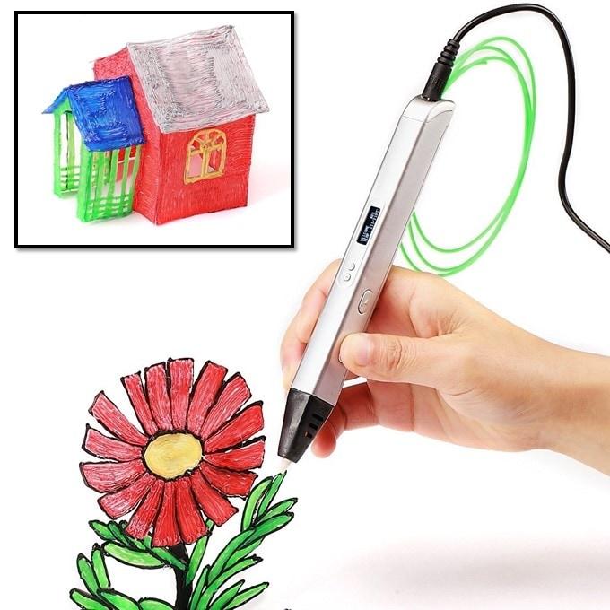 3D - Ручки c OLED экраном Jer RP800A (белый) | 3D ручки