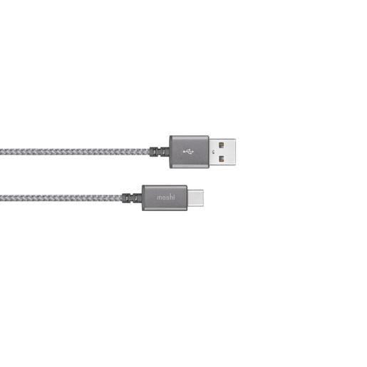 Кабель Moshi Integra USB-C to USB-A. Покрытие кабеля сделано из кевлара. Длина 1,2 м. Цвет серый.